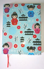 TOKYO DOLLS A5 LINED NOTEBOOK Blue Glitter Journal SMOOTH PLASTIC COVER Japanese