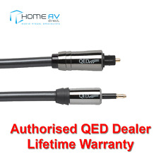 QED Performance Optical Toslink to Mini Toslink Graphite Audio Cable 2m - QE7102