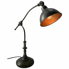 Retro Antique Style Silver Adjustable Table Reading Lamp 60cm Electric Light