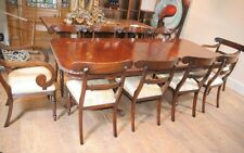 10 William IV Chairs Chippendale Dining Table Set Suite