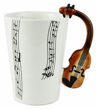 Violin Musical Coffee Mug - Novelty Gift Music Clef Notes 3D Band Unique String