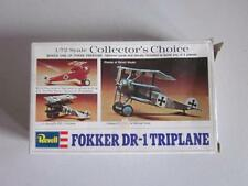 Vintage 1:72 Revell Collector's Choice FOKKER DR-1 TRIPLANE Airplane Complete