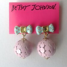 ***BETSEY JOHNSON ''CANDYLAND BOW EARRINGS GORGEOUS***
