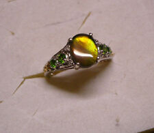 Ammolite, Diopside and Diamond Ring Size 7 9 gemstones 1.76tcw MSRP$579