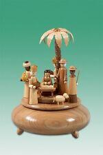 Spieldose Krippe groß natur  Melodie - Stille Nacht d = 22 cm NEU Spieluhr