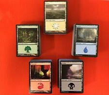 Magic the Gathering MTG 120 Basic Land Lot 24 of Each Deck Builders Toolkit