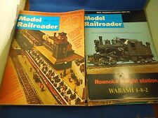 Vintage Lot of 11 1971 & 1974 Assorted Issues Model Railroader Magazine