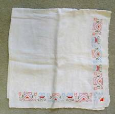 Very Vintage hand embroidered small table cloth