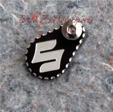"99-07-08-17 Hayabusa Black/Silver Ball Cut ""S"" Front Sprocket Speed Sensor Cover"