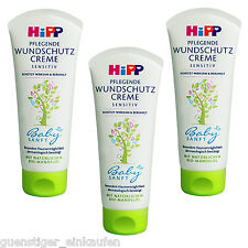 3x 100ml Hipp Nourishing Wound Protection Cream Sensitive Baby Soft