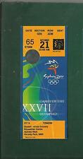 2000 SYDNEY    OLYMPIC GAMES Sept.21st EQUEST-CROSS COUNTRY  TICKET  Rare!