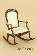 "Bespaq Dollhouse Miniature  1/2"" SCALE  ""SWEET WREATH"" ROCKING CHAIR  S-1648-NWN"