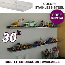 """30"""" ultraLEDGE Stainless Steel LEGO Display"""
