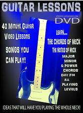 Rock Guitar Chords Lesson DVD Learn chords Up the Neck - Power Major Minor
