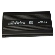 New USB 2.0 External SATA 2.5 HDD Hard Drive Enclosure Case w Black