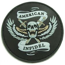AMERICAN INFIDEL 3D PVC US ARMY ISIS USA COLOR SWAT VELCRO® BRAND FASTENER PATCH