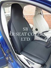 TO FIT A NISSAN QASHQAI +2 CAR SEAT COVERS, ROSSINI ANTHRACITE+LEATHERETTE TRIM