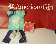 New American Girl Doll 18 Tropical Outfit Tunic Legging Charm Lea Jess Retired