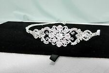 Wedding Tiara Formal Prom Pageant Bridal Swarovski Crystals Silver base New