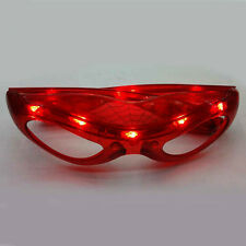 LED Flashing Space Light Up Glasses Glow Glasses Blinking Rave Party Shades RED