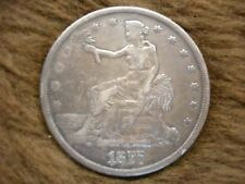 1877 UNITED STATES TRADE DOLLAR - NICE EXAMPLE OF OLDTIME COINAGE  FREE SHIPPING