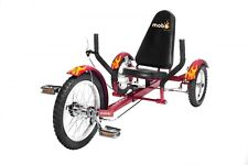 "MOBO Cruiser ""Triton"" Recumbent bicycle Tricycle - recumbent bicycle Red"