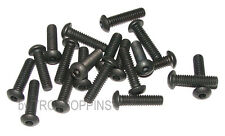 20-BLACK-1/4-20 x 1 BH STEEL BUTTON HEAD ALLEN CAP MACHINE SCREW FASTENER BOLT