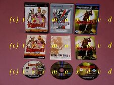 3x PS2 _ Kessen II & Devil May Cry 3 & Metal Gear Solid 2 Sons Of Liberty