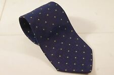 Dunhill England Dark Blue W/ Light Lemon Dots Luxury Necktie