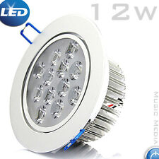 12W LED Down Light Recessed Ceiling Round SpotLight Day/Warm White Silver Finish