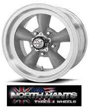 15X8.5 5-4.75 AMERICAN RACING TORQ THRUST D GRAY W/MACH LIP VN-105 CHEVY,HOT-ROD