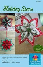 HOLIDAY STARS CHRISTMAS DECORATIONS SEWING PATTERN, from Poorhouse Quilt, *NEW*