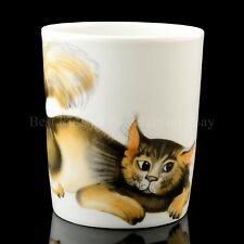 RUSSIAN Imperial Lomonosov Porcelain Mug Cat Listen, New Collection, Raven, Crow