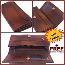 Ladies' Leather Wallet Brown Credit Card ID Holder Zipper & Open Pocket