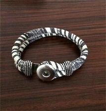 Hot DIY Handmade Fashion Noosa Bracelet fit Chunk Snap Button for Gift New A0201