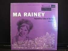 Ma Rainey Legendary Voice Of The Blues Volume 2 Riverside Records RLP-1016 10""