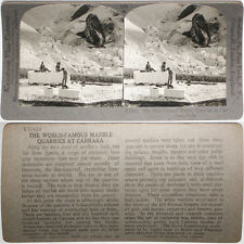 Keystone Stereoview the Marble Quarries, Carrara, ITALY From RARE 1200 Card Set