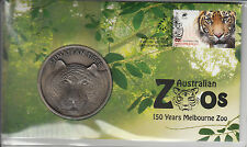 Australia 2012 150 Years Melbourne Zoo Stamp & Medallion Cover Sumatran Tiger