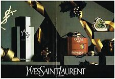 PUBLICITE   1983    YVES SAINT LAURENT  parfums OPIUMS JAZZ (2 pages)