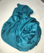 Ocean Blue Satin Scarf