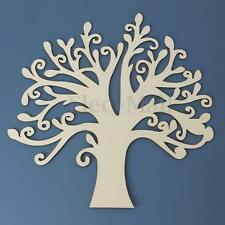 1pc Large Wooden MDF Tree Shape Blank Wedding Guestbook Home Decor 300x285x2.5mm