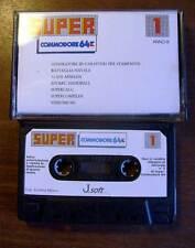 SUPER COMMODORE NUMERO1 - CASSETTA TAPE GIOCHI PROGRAMMI RETROCOMPUTER