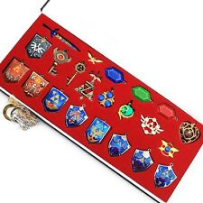 The Legend of Zelda Hylian Shield Sword Keychain Necklace 22pcs Collection Set