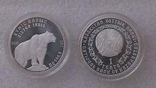Silver Irbis - Snow Leopard, Kazakhstan, 1 Tenge 2010, 1 Oz Silver Coin, UNC