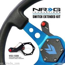 NRG Steering Wheel Single Switch Extended Kit Black with Red Button WSS-100BK