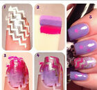 10X White French Nail Art Manicure Guide ZiG ZaG Tips Manicure Stickers Stencils