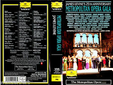 "VHS - "" The Metropolitan Opera GALA- James Levine`s 25th Anniversary """