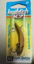 """LUHR JENSEN 2 5/16"""" KWIKFISH K7 WIGGLE PLUG IN GOLD FOR SALMON, TROUT BASS LURE"""