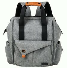 HapTim Multi-function Baby Diaper Bag Backpack with Stroller Straps Gray