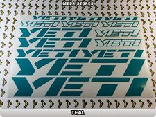 YETI Stickers Decals Bicycles Bikes Cycles Frames Forks Mountain MTB BMX 58LN
